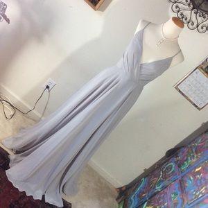 Anthropologie Dresses - Anthropologie BHLDN Grey Maxi Formal Gown